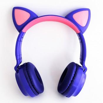 Наушники с ушками Cat ear синие