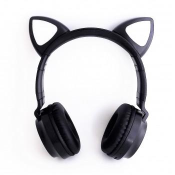 Наушники с ушками Cat ear черные