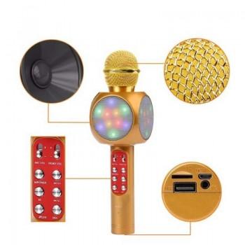 Музыкальный микрофон Handheld KTV WS-1816 оранж, свет, звук