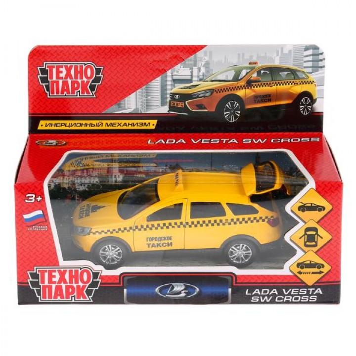 Машина металл Технопарк Lada Vesta SW Cross Такси 12см 270427