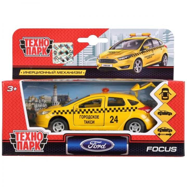 """Машина """"Ford Focus хэтчбек Такси"""" 12 см металлич. инерцион."""