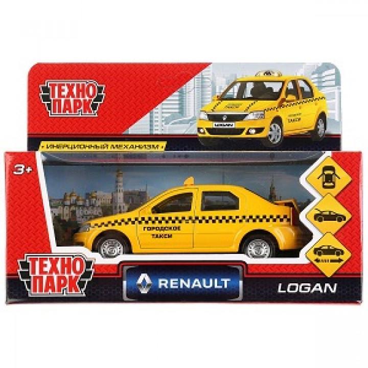 Машина Технопарк металл Renault Logan Такси 12см 222699