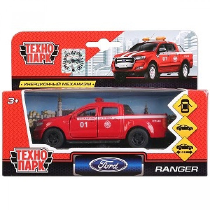 """Машина """"Ford Ranger Пикап Пожарный"""" 12 см металл. Технопарк"""