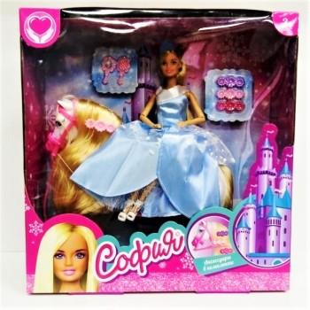Кукла София с единорогом аксессуарами 29 см.