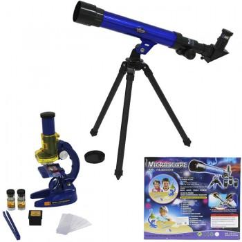Микроскоп с аксессуарами + Телескоп