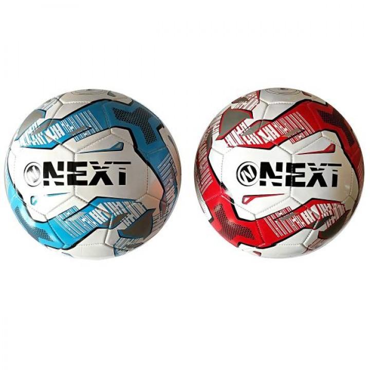 Мяч футбольный Next, ПВХ 1 слой, 5 р., камера рез., маш.обр., в ассорт. в пак.