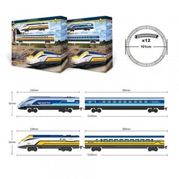 Железная дорога с локомотивом и вагоном (свет, звук) FenFa 1609A-2