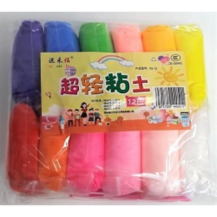 Пластилин мягкий 12 цветов большой пакетик
