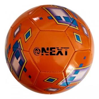 Мяч футбольный next, пвх 1 слой, 5 р., камера рез., маш.обр., в ассорт. в пак. в кор.50шт