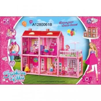 Дом для кукол, с фигурками и мебелью A1280061B