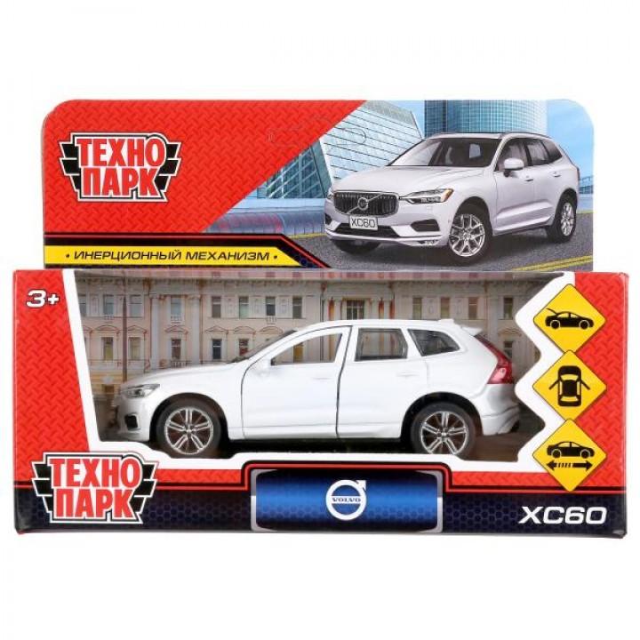 """298716   Машина металл """"volvo xc60 r-desing"""" 12см, открыв. двери, инерц., белый в кор. Технопарк в к"""