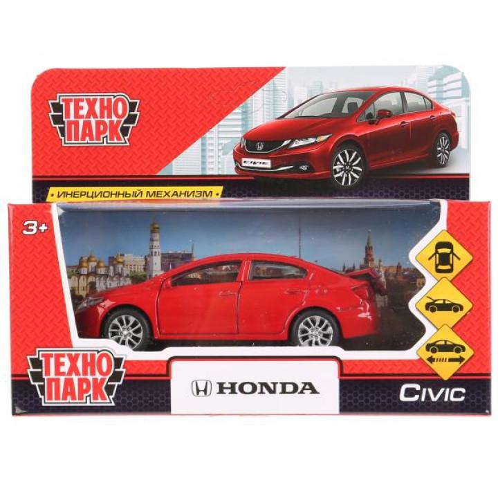 """Машина металл """"HONDA CIVIC"""",12см, открыв. двери, инерц, красный, в кор.Технопарк"""