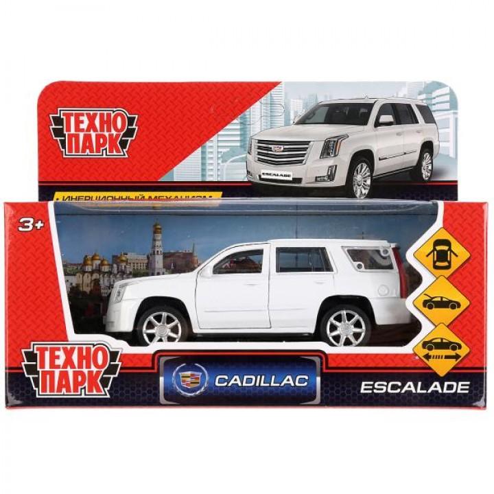 """Машина металл """"CADILLAC ESCALADE"""" 12см, открыв. двери, инерц., белый в кор. Технопарк в кор"""