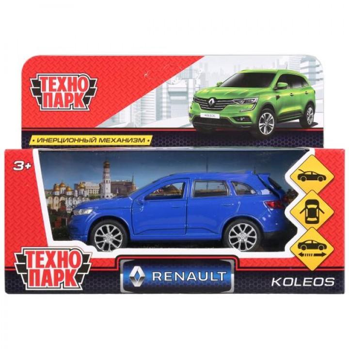 Машина металл RENAULT KOLEOS, длина 12см, открыв. двери, инерц, синий, в кор. Технопарк в к
