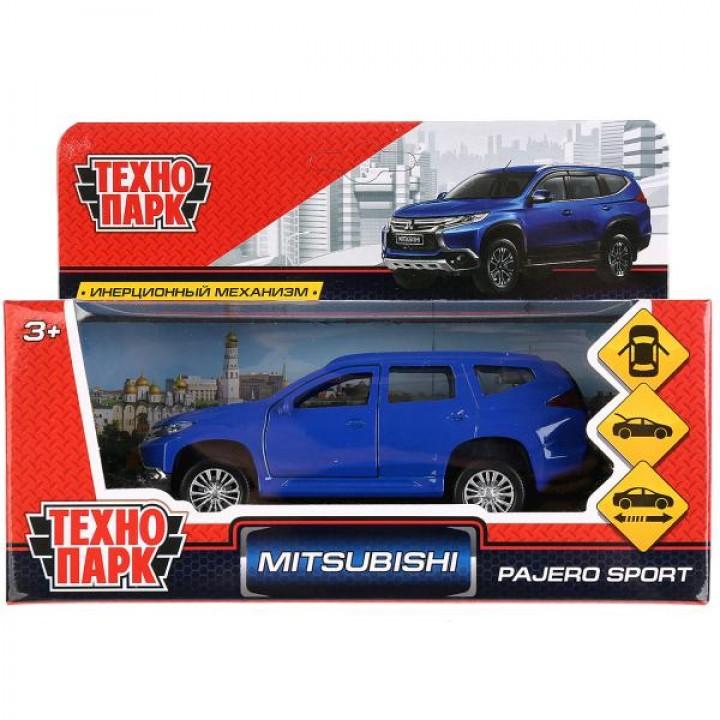 """Машина металл """"MITSUBISHI PAJERO SPORT"""" 12см, открыв двери, инерц, синий в кор Технопарк в"""