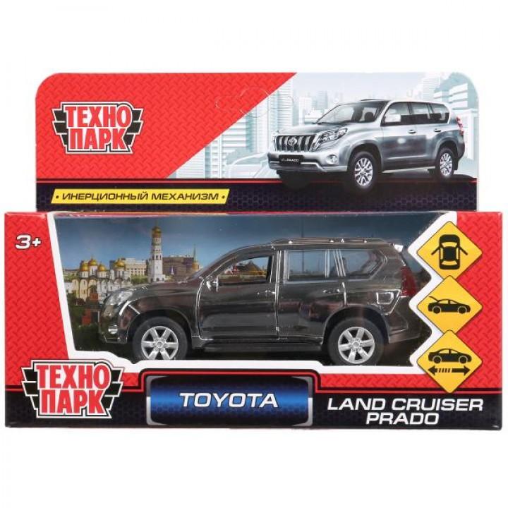 Машина Toyota Land Cruiser Prado серебристый хром металл Технопарк