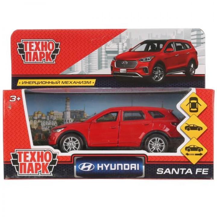 """Машина металл """"HYUNDAI SANTAFE"""" 12см, открыв. двери, инерц, красный в кор. Технопарк в кор."""