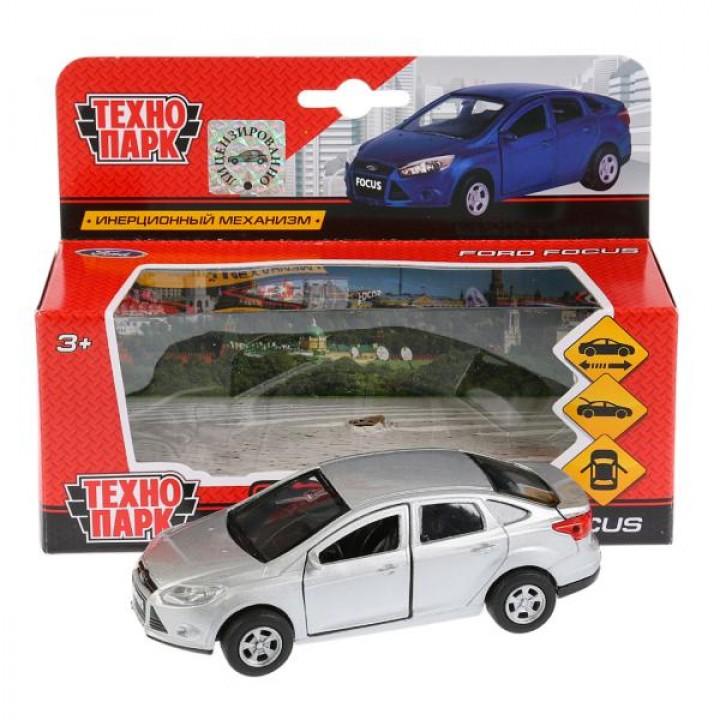 Машина металл FORD Focus 12см, инерц., открыв. двери, цвет серебристый в кор. Технопарк в к