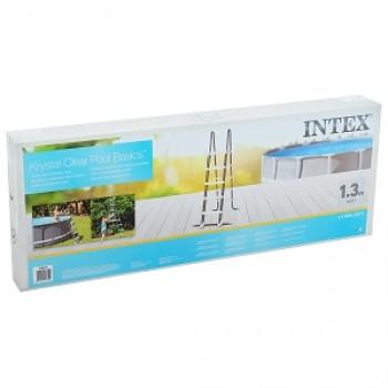Лестница для бассейнов Intex до 132см, 4 ступеньки, с площадкой, с защитой
