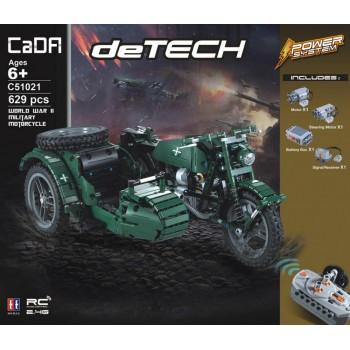 Конструктор CaDa Мотоцикл на р/у 629 дет. C51021W