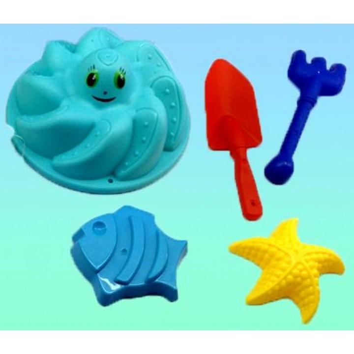 Песочный Набор (формочки, совок, грабли)