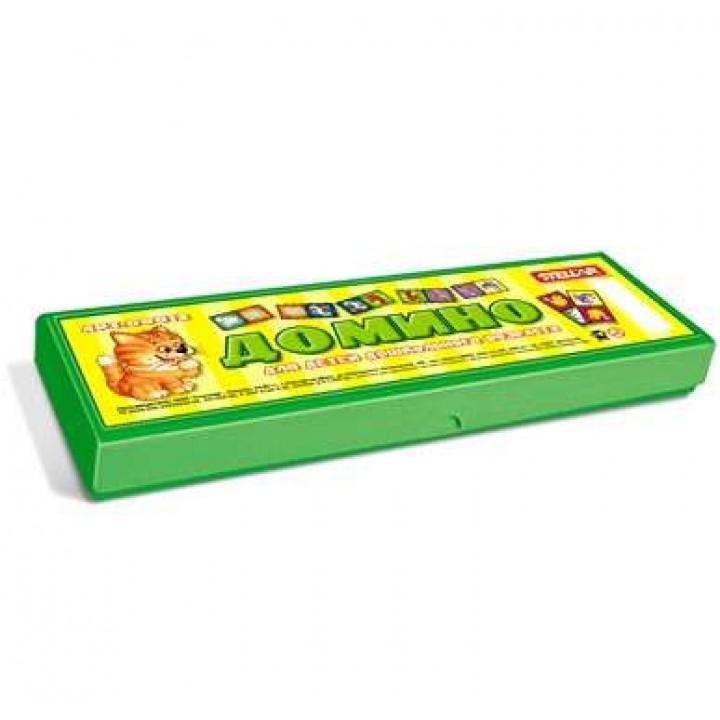 Домино в пластиковой коробке