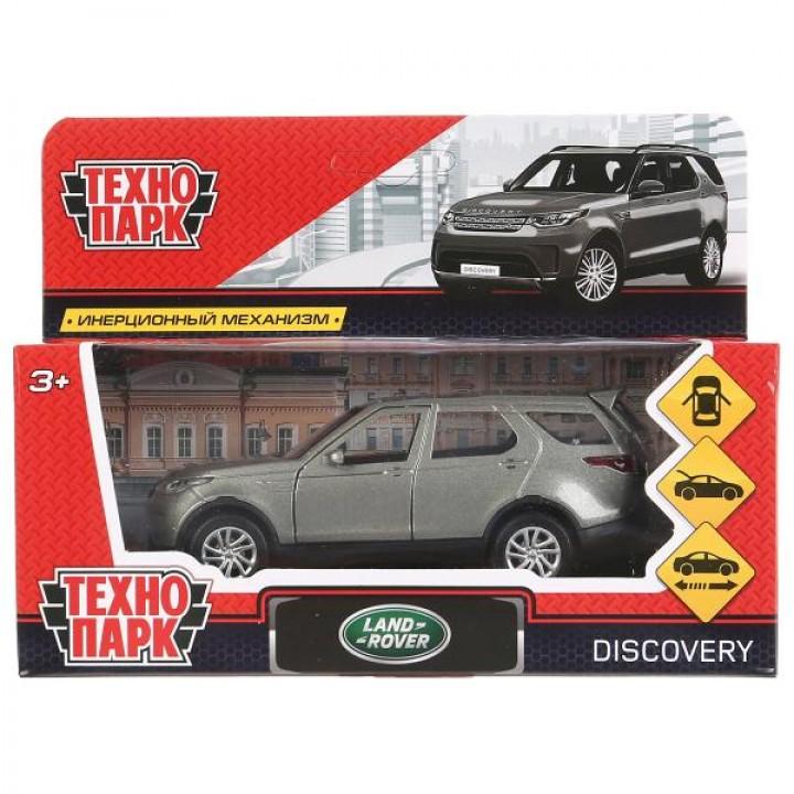 Машина металл LAND ROVER DISCOVERY 12см, открыв. двери, инерц, серый, в кор. Технопарк в ко