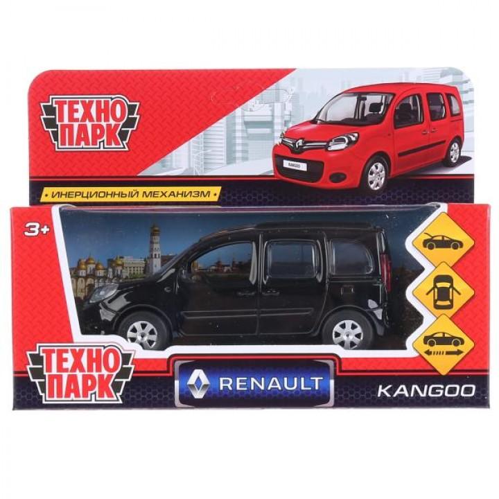 """Машина металл """"RENAULT KANGOO"""" 12см, открыв. двери, инерц., ЧЕРНЫЙ ТМ Технопарк."""