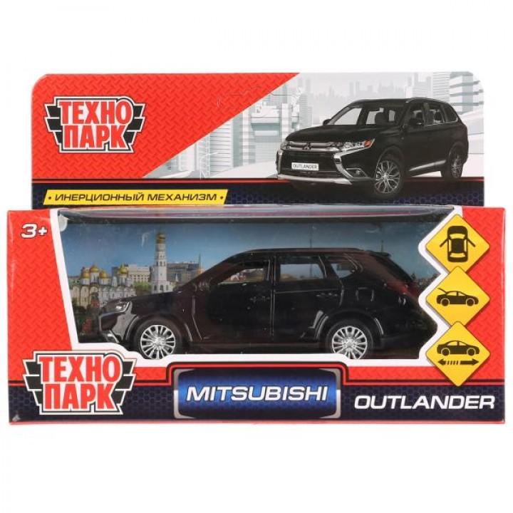 """Машина металл """"MITSUBISHI OUTLANDER"""" 12см, открыв. двери, инерц, черный в кор Технопарк в к"""