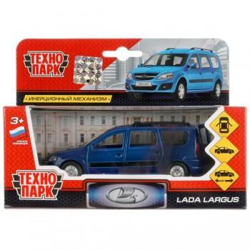 273010   Машина металл LADA Largus 12см, инерц., открыв. двери, цвет синий в кор. Технопарк в кор.2*