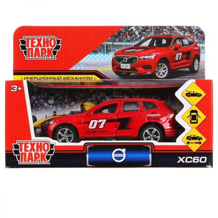 """299806   Машина металл """"volvo xc60 r-desing спорт"""" 12см, инерц., красный в кор. Технопарк в кор.2*36"""