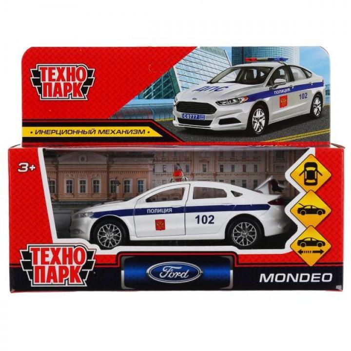 "Машина металл ""ford mondeo полиция"" 12см, откр двери, багаж, инерц.белый в кор Технопарк в"