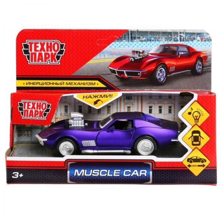 """298371   Машина металл свет-звук """"muscle car"""" 12см, откр.двери, инерц., ассорти в кор. Технопарк в к"""