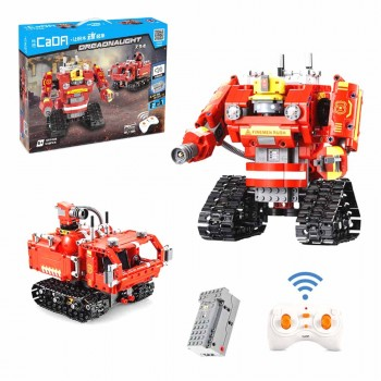 Конструктор Пожарный робот-трансформер 2 в 1 на РУ (538 деталей) CaDA C51048W