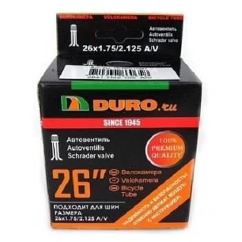 Велокамера DURO 26х1.75/2. 125 A/V DHB01007