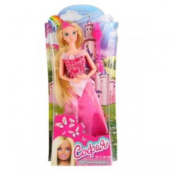 271607   Кукла 29см София принцесса в розовом платье, с аксесс. на блистере (русс. уп.) Карапуз в ко