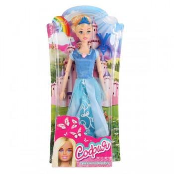 271608   Кукла 29см София принцесса в голубом платье, с аксесс. на блистере (русс. уп.) Карапуз в ко