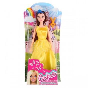271609   Кукла 29см София принцесса в желтом платье, с аксесс. на блистере (русс. уп.) Карапуз в кор