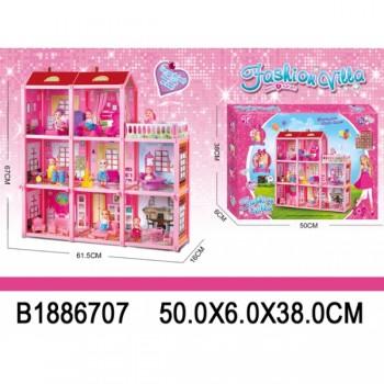 Дом для кукол, с фигурками и аксессуарами B1886707