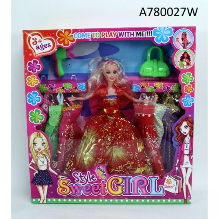 304802   Кукла 29см с набором одежды и аксесс. в кор. в кор.2*24шт