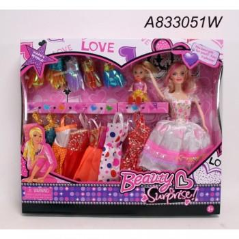 304118   Кукла 29см с набором одежды в кор. в кор.2*24шт