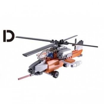Конструктор Авиация вертолет с фигуркой, 129 дет. Sluban