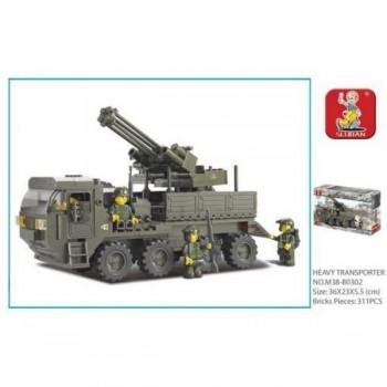 Конструктор Армия военная машина с фигурками, 306 дет.Sluban