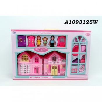 Дом для кукол, с фигурками и аксессуарами A1093125W