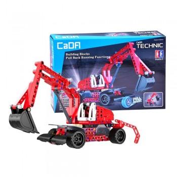 Конструктор Экскаватор (инерция) (235 деталей) CaDA C52012W