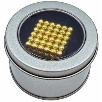 Неокуб золотой 216 шариков 3 мм