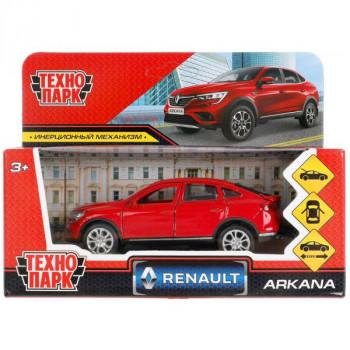 Машина Renault Arkana 12 см красная металл инерция Технопарк ARKANA-12-RD