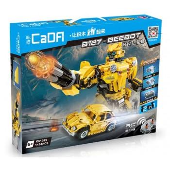 Конструктор CaDa 2в1 трансформер B127-BeeBot 1124 дет. C51029W