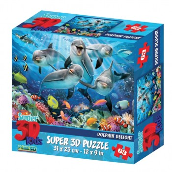 Пазл 3Д Дельфиний восторг 63 эл.
