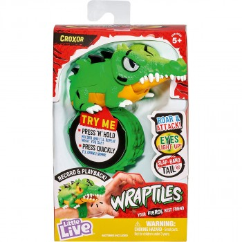 Игрушка интерактивная браслет Крокодил Wraptiles